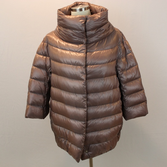 8b7adbbb6 Herno 3/4 sleeve cocoon quilted jacket
